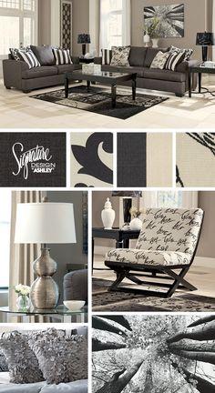 Levon Charcoal Sofa - Ashley Furniture