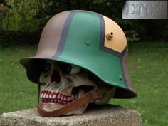 WWI & WWII German and U. Helmets: original or restored has 437 members. This page is dedicated to depicting original and realistically restored WWI &. Pith Helmet, German Helmet, Helmet Paint, Wwii, Riding Helmets, Camo, Poster, Inspiration, Helmets