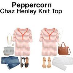 Peppercorn Chaz Henley Knit Top