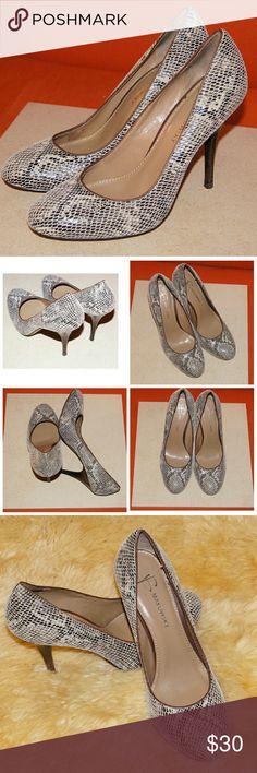 B. Makowsky Neve Pumps 8M Brown snake skin shoes from B. Makowsky, worn a couple of times. Very nice shoes. b. makowsky Shoes Heels