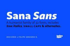 Sana Sans - 30% off! by Latinotype on @creativemarket