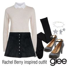 """""""Rachel Berry inspired outfit/glee"""" by tvdsarahmichele ❤ liked on Polyvore featuring See by Chloé, Abercrombie & Fitch and BERRICLE"""