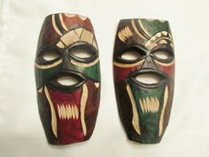 Wooden African Mask (Swazi) - Made in Swaziland - African Masks, Hand Carved, Carving, Boutique, How To Make, Fictional Characters, Art, Art Background, Wood Carvings