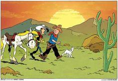 Tintin et Lucky Luke par Rodier