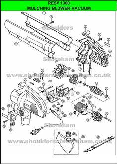 Ryobi Resv1000 Ryobi Blower Vac Spare Parts Diagram