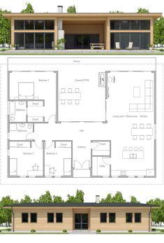 Modular Home Plan, Three bedroom house plan, Floor Plan, Prefab house plan