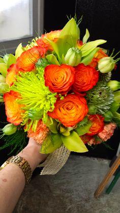 bbf1ac96f1ae86 Orange and Green Wedding Bouquet Kui   I Florist Hilo