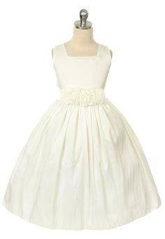 in ivory $49  Addison Girls Formal Dress - PuddlesCollection.com