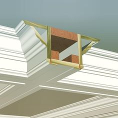 Here is the cross section detail of the coffered ceiling build-up we just posted. Obviously this may be slightly modified to meet your needs, but hopefully this will give you some inspiration! If you'd like to know what profiles we used and a have us send you a complimentary catalog and pattern book, DM us and we'll let you know how to make it happen!