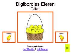 Digibordles Eieren tellen