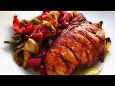 healthy bbq chicken with roasted veggies