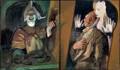 """Jerome Witkin, """"Vincent and His Dream Girl"""" 2012 & Oil on Canvas, Diptych, 37 5/8 x 62 1/8 inches"""