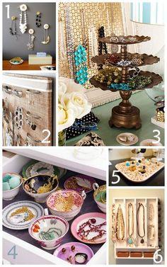 organizing jewelry like the cake pedestal idea for ear rings