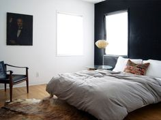 Simple black and white and little extra touches. via That Kind Of Woman