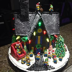 Despicable Me Minion Gingerbread House