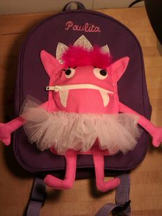 "Cute Tutu Monster Backpack ""Paulita"". $65.00, via Etsy."