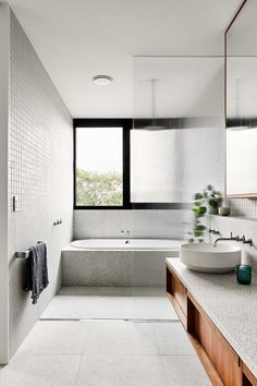 A Case Study in Premium Sustainable Housing — Design Anthology Interior Design Studio, Bathroom Interior Design, Passive Design, Melbourne, Townhouse Designs, Bathroom Renos, Bathroom Ideas, Warm Bathroom, Family Bathroom