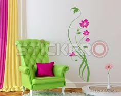 Sticker decorativ Silueta Florala