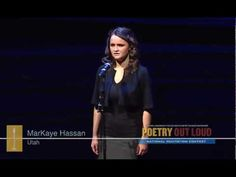 "2012 POL 3rd Place Winner MarKaye Hassan recites ""I felt a Funeral, in my Brain,"" by Emily Dickinson"