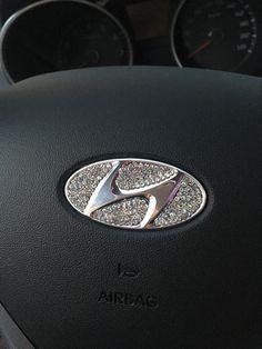 Hyundai Bling Steering Wheel LOGO Sticker Decal