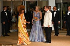 Princess Charlene and Prince Albert attend the 68th Red Cross Gala on Saturday, July 23, 2016.
