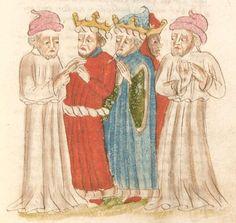 Weltchronik. Sibyllenweissagung. Antichrist  BSB Cgm 426, Bayern,  3. Viertel 15. Jh  Folio 159