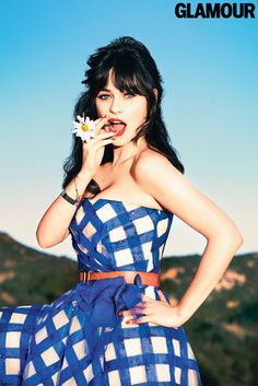 Zooey Deschanel on her signature bangs