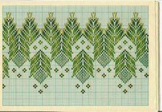 Lú cantinho do bordado e da cozinha: VAGONITE Swedish Embroidery, Hand Work Embroidery, Types Of Embroidery, Diy Embroidery, Cross Stitch Embroidery, Embroidery Patterns, Cross Stitch Borders, Cross Stitch Designs, Cross Stitch Patterns