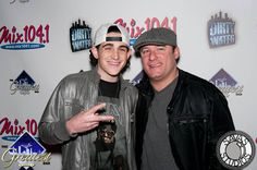 NBC's The Voice contestant James Massone with comedian Dave Russo at Dirty Water Fridays at The Greatest Bar.