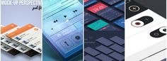 5 Premium and Free mobile apps mockup psd Free Mobile Apps, Mockup, Photoshop, Miniatures, Model