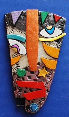 Check out student artwork posted to Artsonia from the Kimmy Cantrel Clay Face project gallery at Alum Creek Elementary School. Ceramics Projects, Clay Projects, 3d Art, Picasso Art, Picasso Portraits, Kids Clay, Clay Faces, School Art Projects, Middle School Art