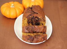 nutella swirl pumpkin bread..this sounds delicious!!