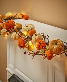 Lighted Velvet Pumpkin Garland Harvest Fall Thanksgiving Halloween Decor for sale online Thanksgiving Crafts, Thanksgiving Decorations, Halloween Decorations, Fall Decorations, Hosting Thanksgiving, Thanksgiving Tablescapes, Thanksgiving Sides, Fall Home Decor, Autumn Home