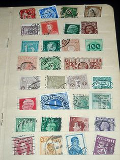 Worldwide Lot 132 Stamps Many Countries OLD Folder! Most Pre WWII -Unsearched. MUST SEE LISTING! $1.32