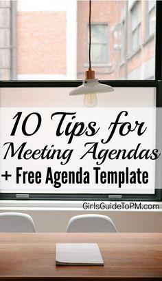 Meetings need agenda