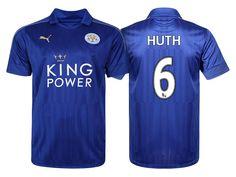 Leicester City #6 Robert Huth 2016-17 Home Short Shirt