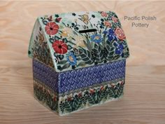Polish Pottery Unikat Piggybank....I need this so I can save for all the polish pottery I want!