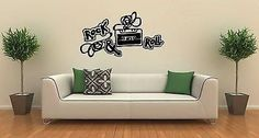Wall Stickers Vinyl Decal Rock And Roll Music Tape Cassette Recorder Unique Gift ig1513