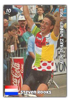 Steven Rooks, vainqueur de l'Alpe d'Huez en 1988