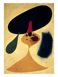 Miro: Young Girl, 1935 Giclee Print by Joan Miro at Art.com