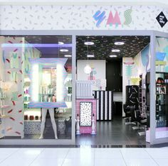 Daring 80s Style Hair Salons in Slovenia by Kitsch Nitsch in interior design  Category