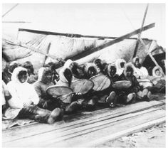 This is an example of an Inuit dance orchestra, used in many more modern celebrations.