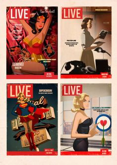 """""""Life"""" Magazine with Superheroes by Des Taylor"""