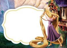 Who is a popular princess beside Snow White and Cinderella? The answer can be Rapunzel. With her very long hair, Rapunzel successfully made a lot of little girls admiring her. If your little princess' birthday is coming close, celebrating her special Rapunzel Birthday Cake, Tangled Birthday Party, 18th Birthday Party, Birthday Party Invitations, Princess Birthday, Rapunzel Disney, Disney Cinderella Castle, Free Printable Invitations Templates, Photomontage
