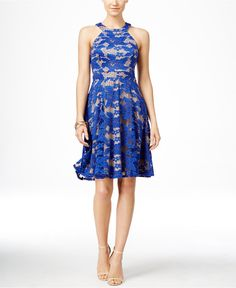 INC International Concepts Lace Halter Fit & Flare Dress, Only at Macy's - Dresses - Women - Macy's
