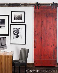 Red Sliding Barn Door chris vario (chrisvario) on pinterest