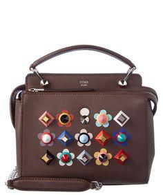 FENDI Fendi Dotcom Leather Satchel'. #fendi #bags #shoulder bags #hand bags #leather #satchel #lining #