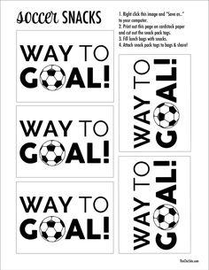 Soccer Snacks The Chic Site, Soccer printable Soccer Banquet, Soccer Theme, Soccer Birthday, Youth Soccer, Kids Soccer, Soccer Party, Soccer Stuff, Soccer Moms, Soccer Ball