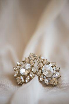 Classic Crimson and Champagne Fall Wedding   Virginia Wedding   Stunning gold earrings