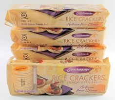 Crunchmaster GLUTEN FREE Rice Crackers 5-Pack ARTISAN FOUR CHEESE  #Crunchmaster